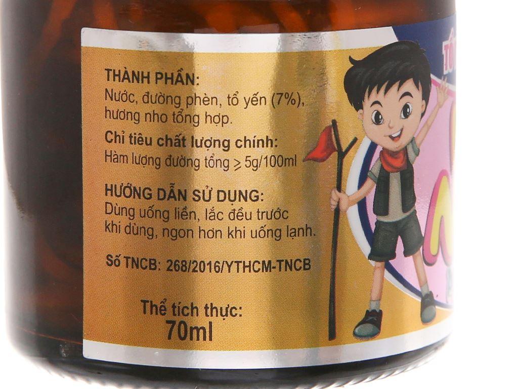 Hộp 6 hũ tổ yến chưng sẵn Sài Gòn Anpha hương nho 70ml 3