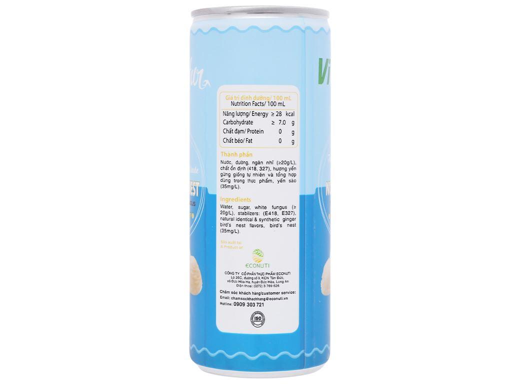 Lốc 6 lon nước yến ngân nhĩ Vinatur vị gừng 240ml 3
