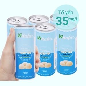 Lốc 6 lon nước yến ngân nhĩ Vinatur vị gừng 240ml