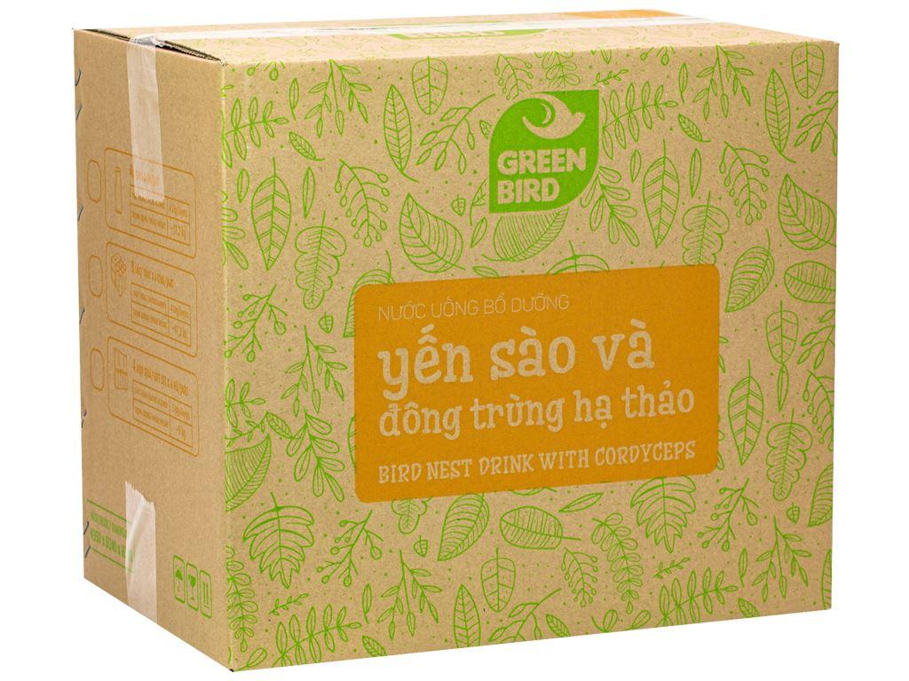 Thùng 48 chai nước yến sào đông trùng hạ thảo Green Bird 185ml 1