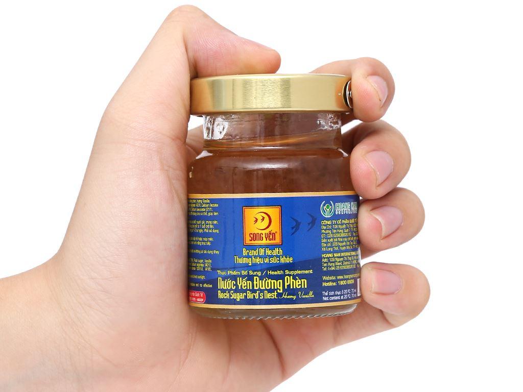 Hộp 6 hũ nước yến đường phèn Song Yến hương vanilla 70ml 20