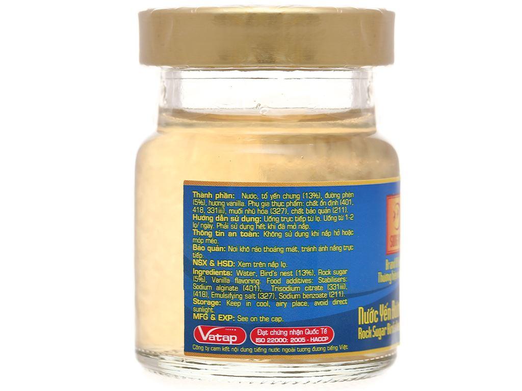 Hộp 6 hũ nước yến đường phèn Song Yến hương vanilla 70ml 16