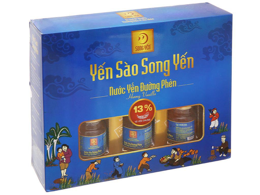 Hộp 6 hũ nước yến đường phèn Song Yến hương vanilla 70ml 1