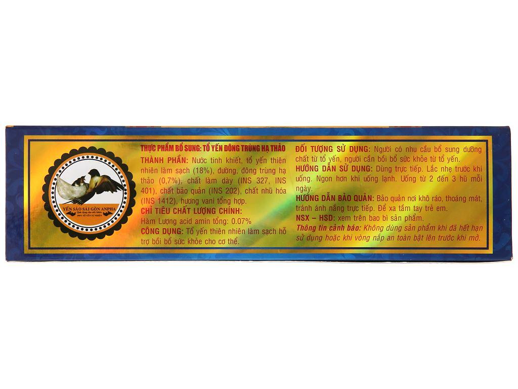 Hộp 6 hũ tổ yến chưng đông trùng hạ thảo Sài Gòn Anpha 70ml 4