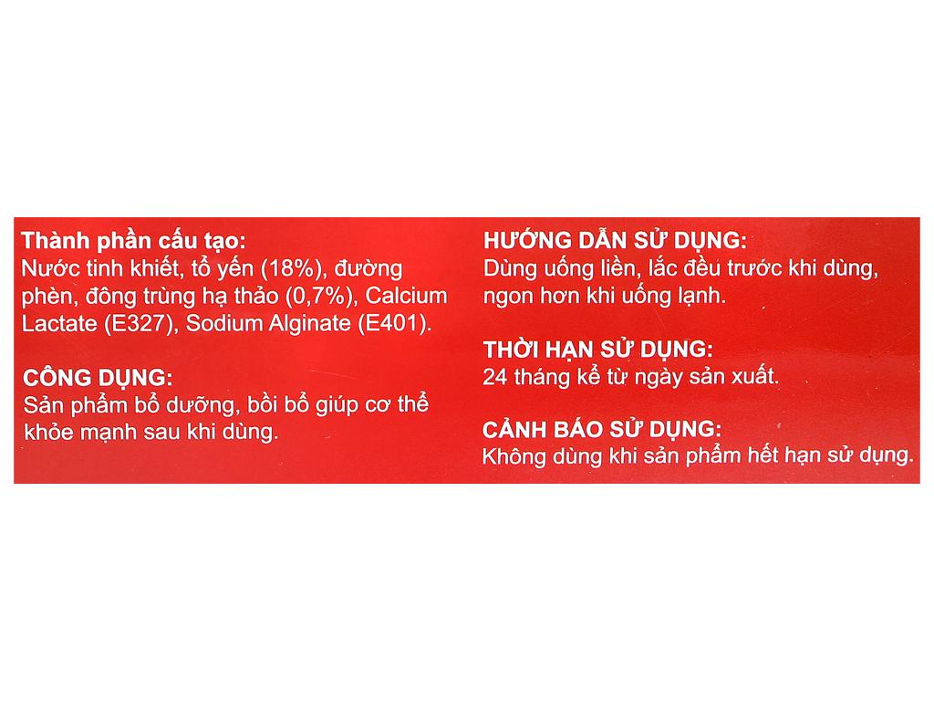 Hộp 6 hũ tổ yến chưng đông trùng hạ thảo Sài Gòn Anpha 70ml 8