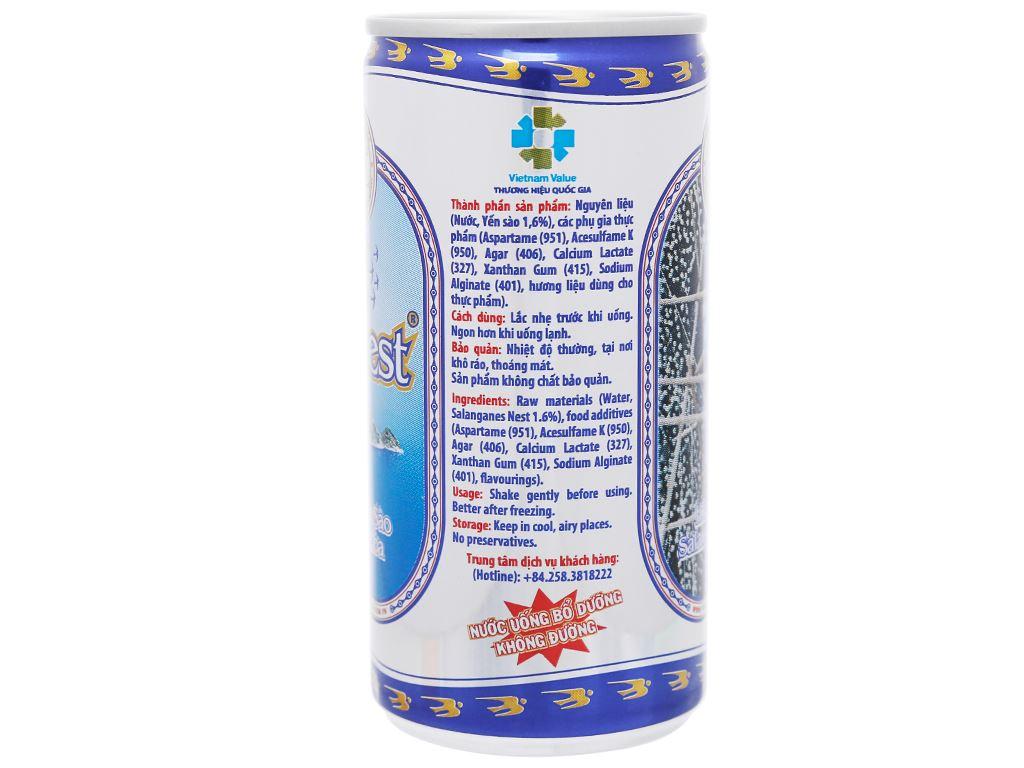 Thùng 30 lon nước yến sào Khánh Hòa không đường 190ml 4