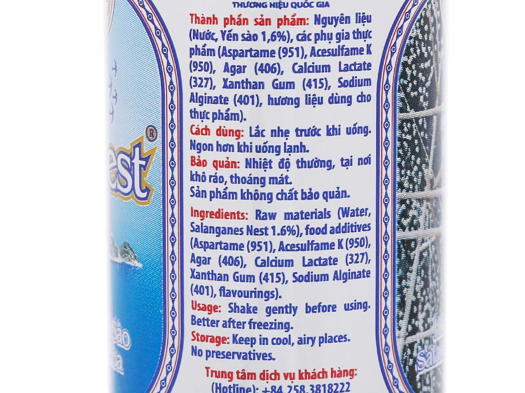 Thùng 30 lon nước yến sào Khánh Hòa không đường 190ml 6