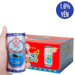 Thùng 30 lon nước yến sào Khánh Hòa không đường 190ml