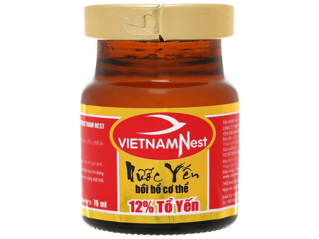 Hộp 6 hũ tổ yến chưng sẵn Sài Gòn Anpha 70ml 6