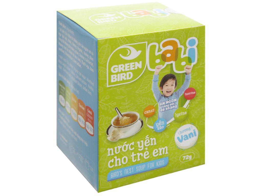Nước yến cho trẻ em Green Bird Babi 72g 1