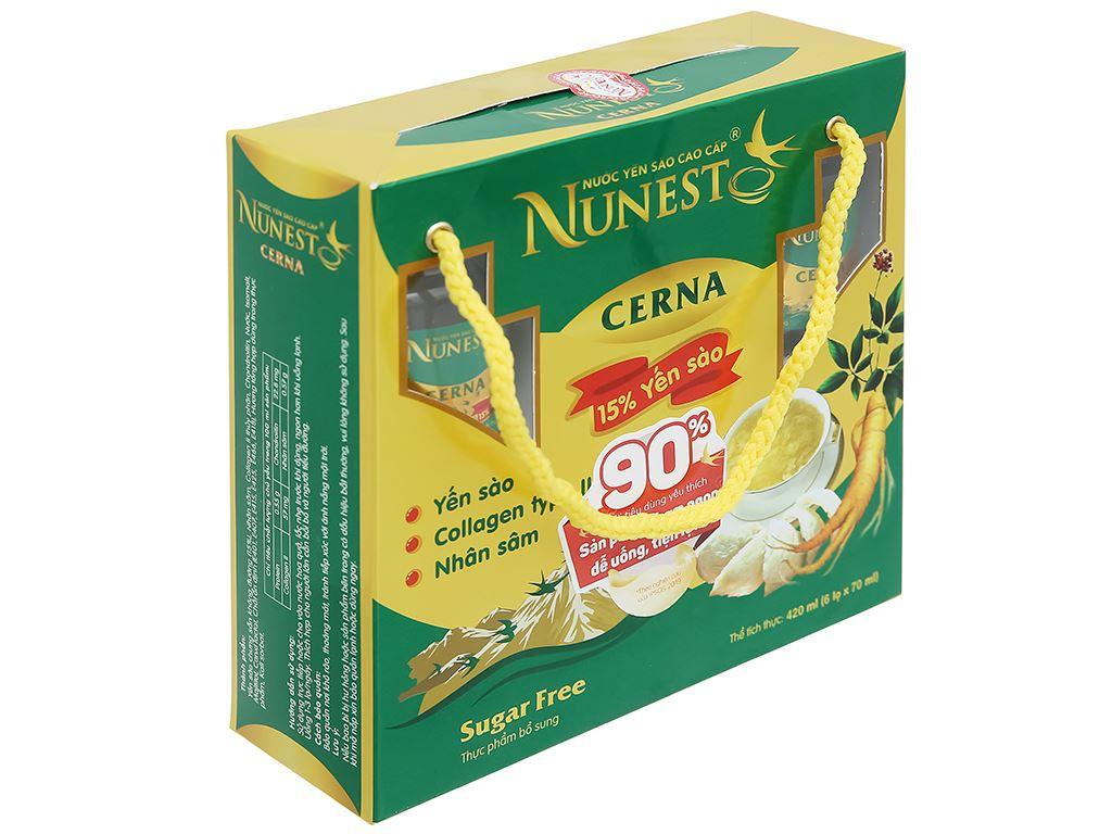 Lốc 6 hũ nước yến sào Nunest Cerna 420ml 1