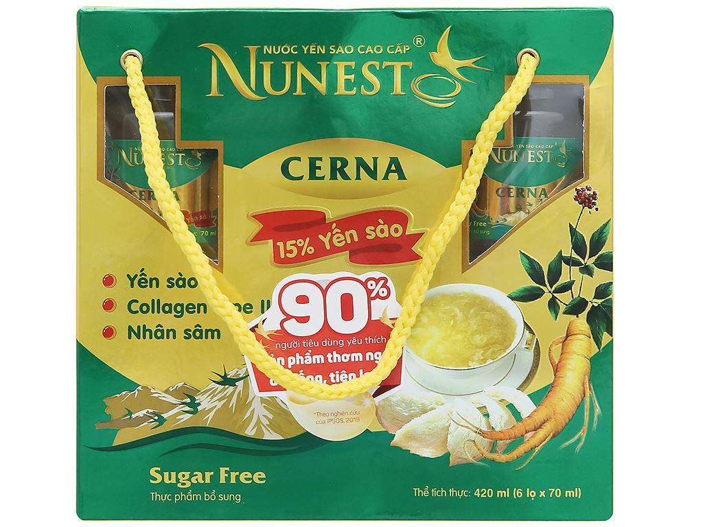 Lốc 6 hũ nước yến sào Nunest Cerna 420ml 2