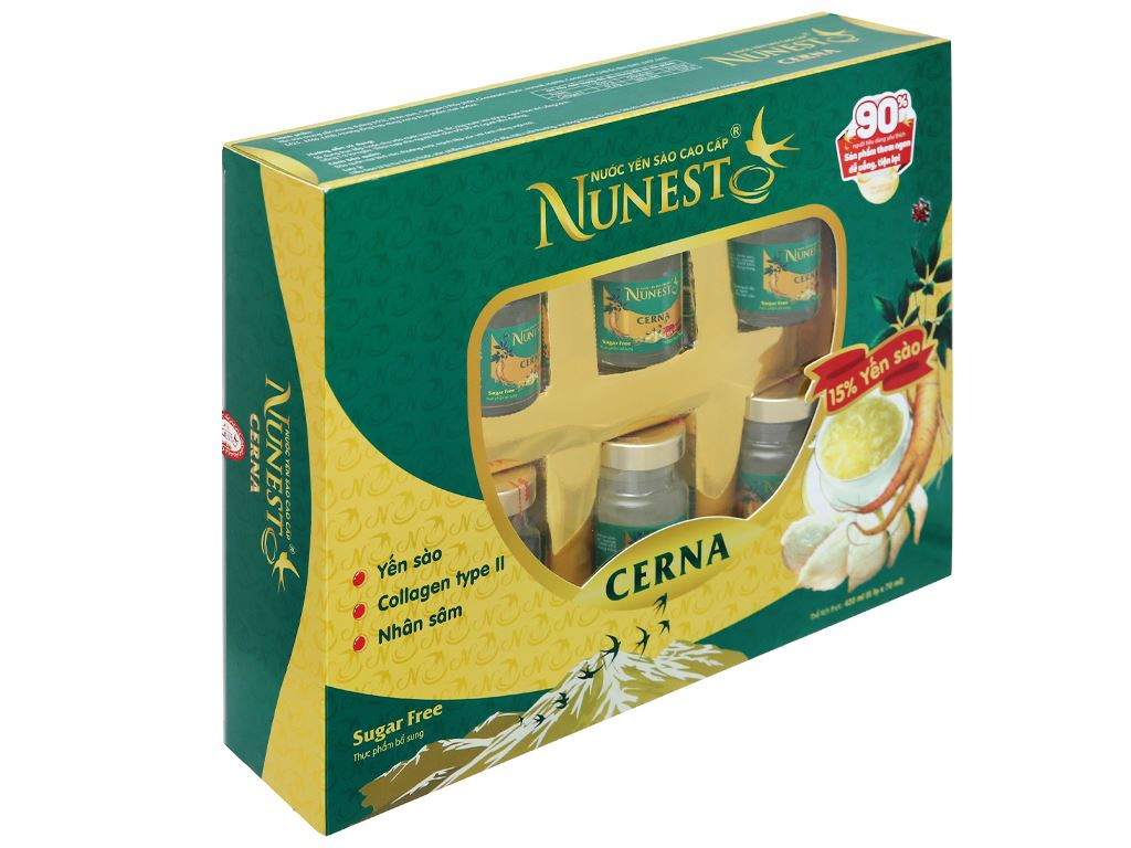 Hộp 6 hũ nước yến sào Nunest Cerna 420ml 1
