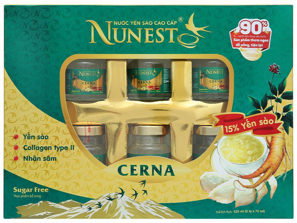 Hộp 6 hũ nước yến sào Nunest Cerna 420ml 2