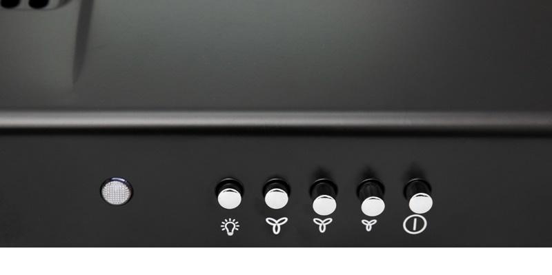 Bảng điều khiển nút nhấn với các chỉ dẫn dễ hiểu - Máy hút mùi Electrolux EFT7516K
