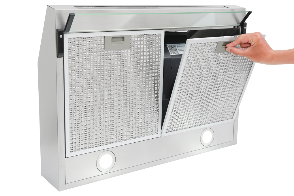 Lưới lọc bằng nhôm cao cấp, có thể tháo lắp dễ dàng - Máy hút mùi Malloca H342.7 TC