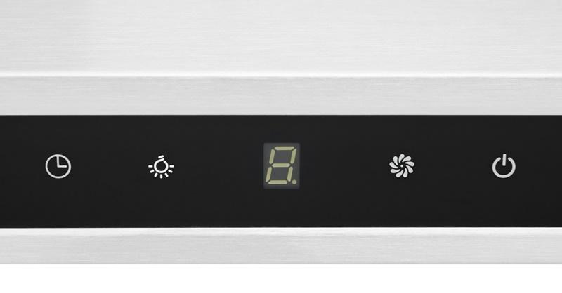 Bảng điều khiển cảm ứng nhạy, nhanh với các phím bấm rõ ràng - Máy hút mùi Malloca H342.7 TC