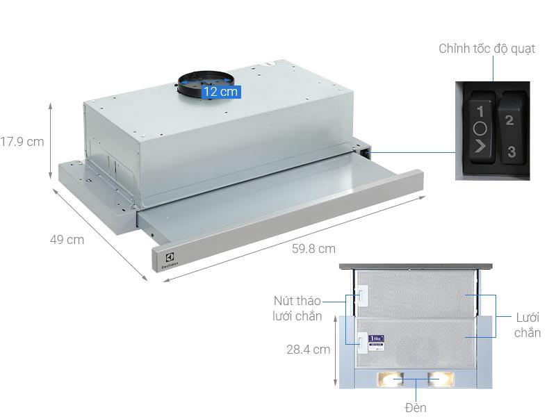Máy hút mùi âm tủ Electrolux LFP316S