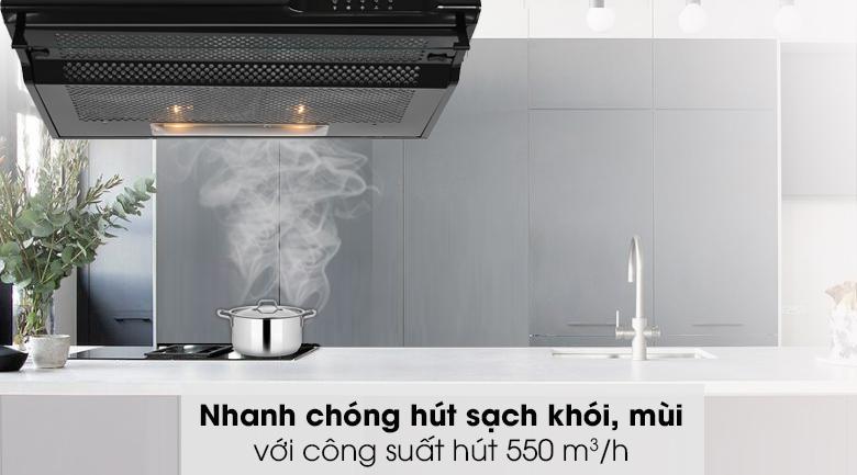 Máy hút mùi âm tủ Jenair 301-2M70BL - Công suất hút 550 m3/h