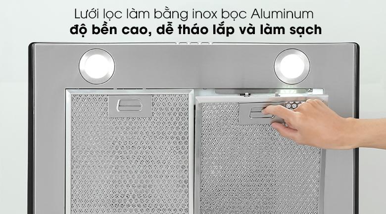 Máy hút mùi áp tường Kocher K-8870 - Trang bị lưới lọc làm bằng inox bọc Aluminum bền bỉ