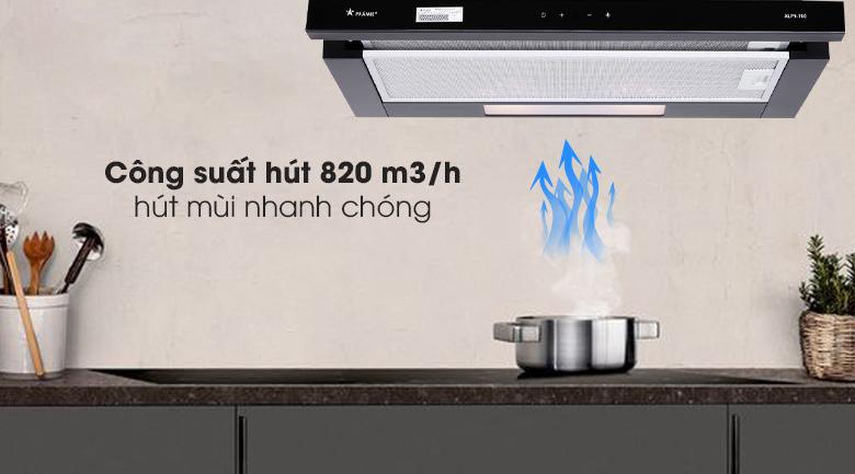 Công suất - Máy hút mùi Pramie ALP9-700
