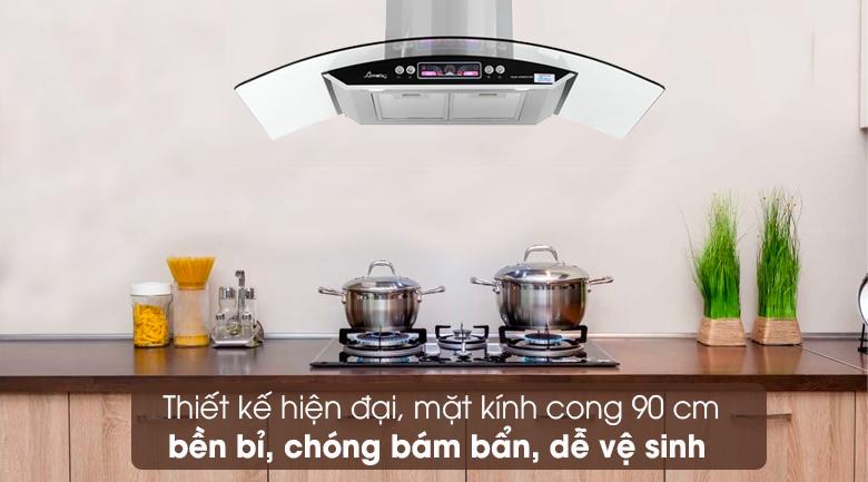 Máy hút mùi kính cong Apex APB6601-90C - Thiết kế