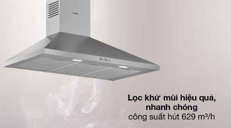 Hút hiệu quả - Máy hút mùi áp tường Bosch DWP96BC50B