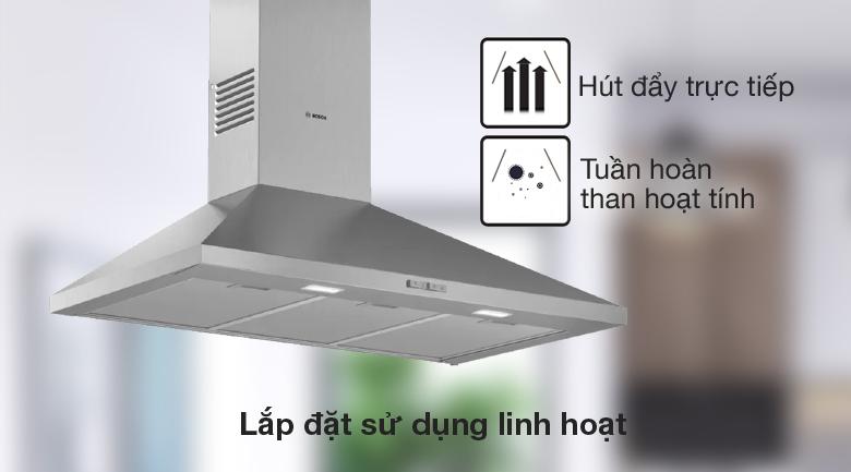 Sử dụng linh hoạt - Máy hút mùi áp tường Bosch DWP96BC50B