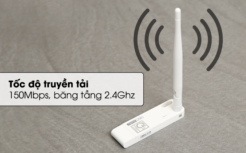 Bộ Mở Rộng Sóng Wifi Cổng USB Totolink EX100 trắng cho tốc độ ổn định