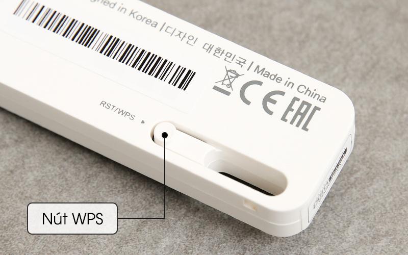 Bộ Mở Rộng Sóng Wifi Cổng USB Totolink EX100 trắng kết nối nhanh qua nút WPS