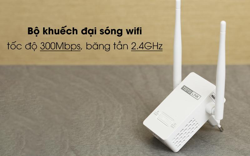 Bộ Mở Rộng Sóng Wifi AC220V Totolink EX200 trắng có tốc độ truyền cao