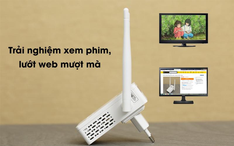 Bộ Mở Rộng Sóng Wifi AC220V Totolink EX200 trắng cho bạn trải nghiệm mượt mà