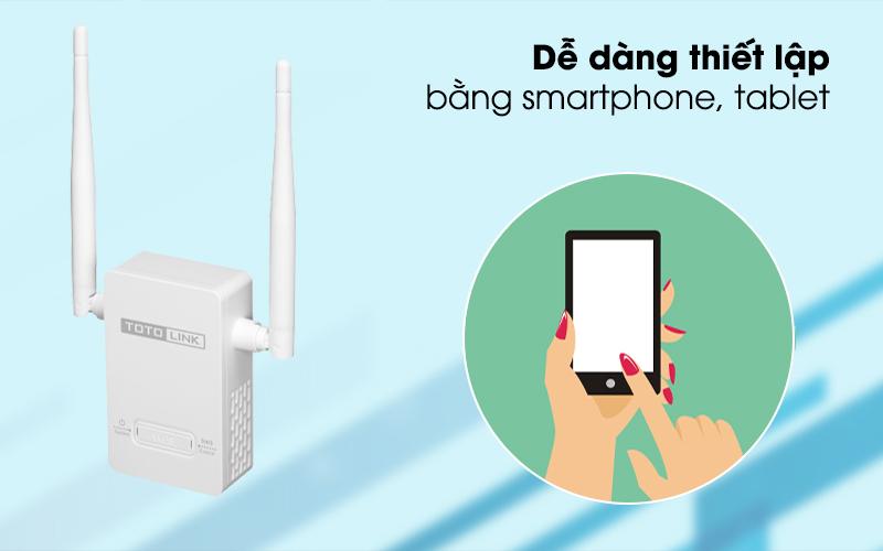Bộ Mở Rộng Sóng Wifi AC220V Totolink EX201 Trắng dễ dàng thiết lập bằng điện thoại