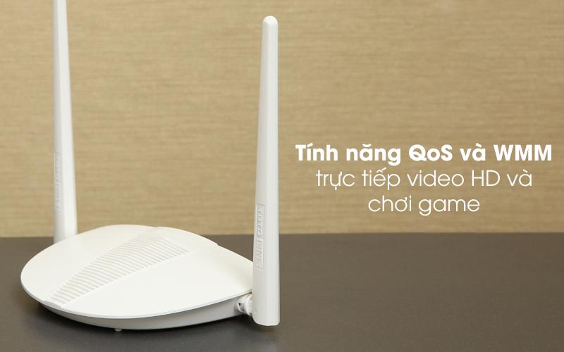 sBộ phát sóng Wifi Router Chuẩn N Totolink N210RE V1 trắng có tính năng Qo
