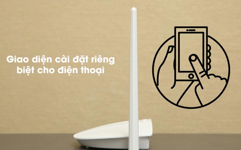 Bộ phát sóng Wifi Router Chuẩn N Totolink N210RE V1 trắng có thể cài đặt qua điện thoại