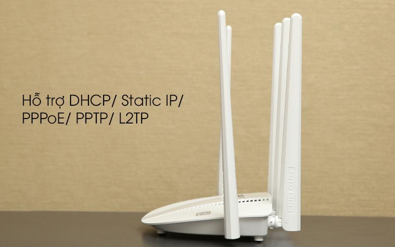 Bộ phát sóng Wifi Router chuẩn AC1200 Băng Tần Kép Totolink A810R trắng hỗ trợ DHCP, PPTP,...