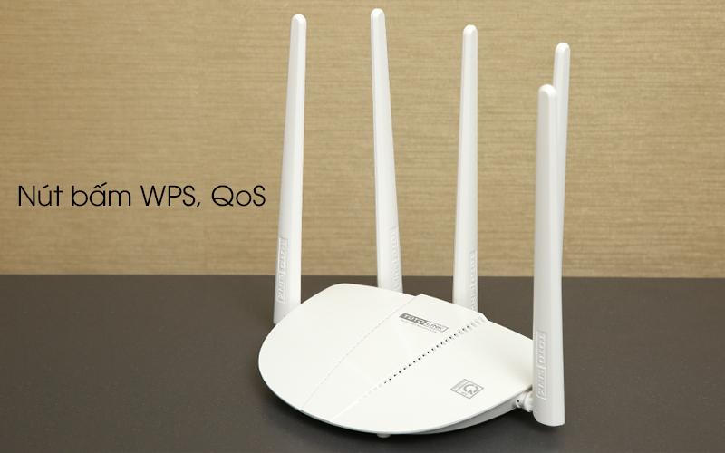 Bộ phát sóng Wifi Router chuẩn AC1200 Băng Tần Kép Totolink A810R trắng có nút bấm WPS