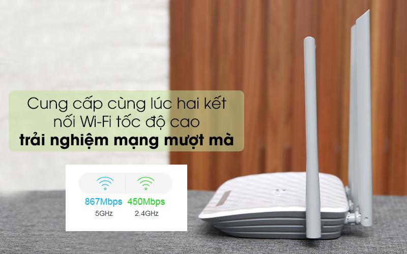 Cho tốc độ mạng mượt mà - Router Wifi Băng Tầng Kép TP-Link Archer C60 Trắng