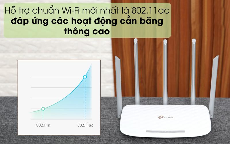 Chuẩn Wifi mới nhất - Router Wifi Băng Tầng Kép TP-Link Archer C60 Trắng