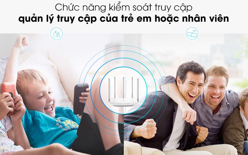 Hỗ trợ quản lý internet - Router Wifi Băng Tầng Kép TP-Link Archer C60 Trắng