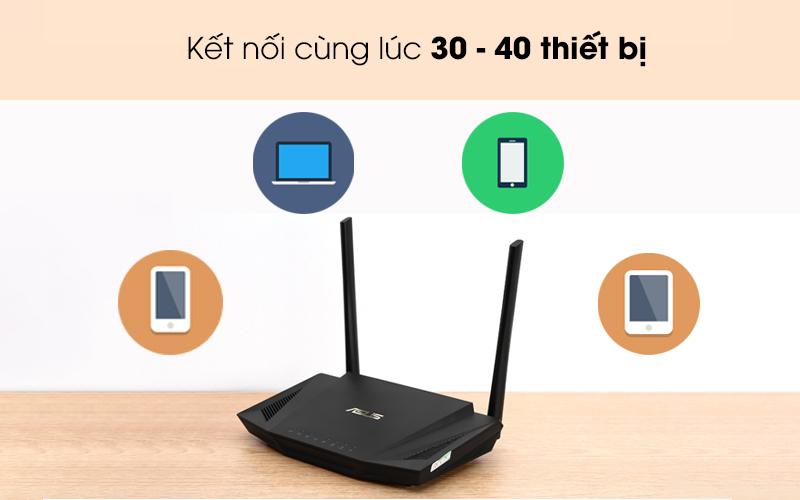 Kết nối đông thời nhiều thiết bị - Router Chuẩn Wifi 6 Băng Tần Kép Asus AX56U Đen