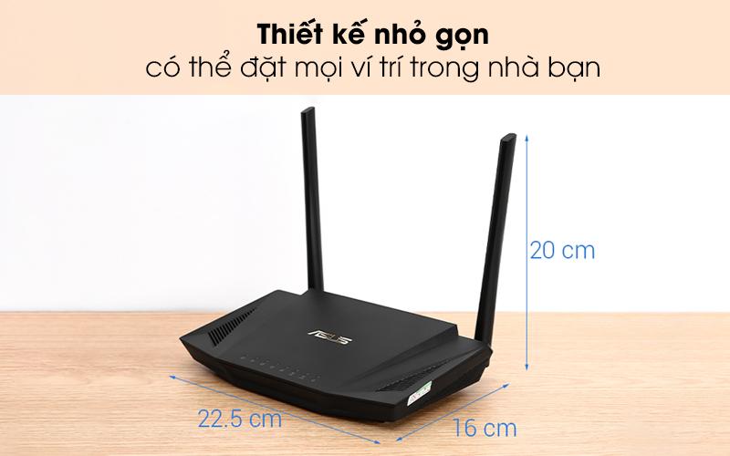 Thiết kế nhỏ gọn, có thể đặt ở mọi nơi trong nhà - Router Chuẩn Wifi 6 Băng Tần Kép Asus AX56U Đen