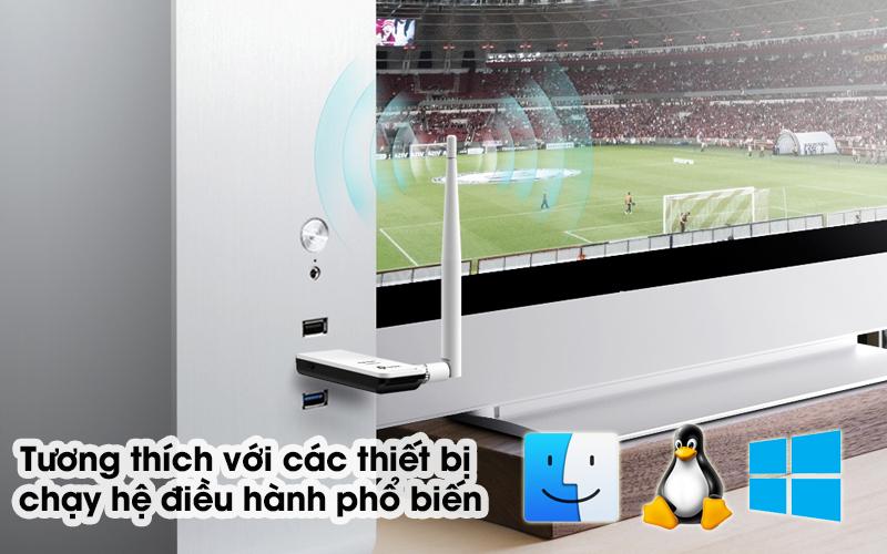 USB Wifi 150Mbps TP-Link TL-WN722N Trắng - Hỗ trợ nhiều hệ điều hành thông dụng