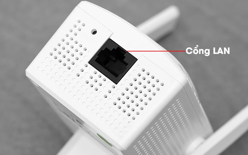 Repeater (bộ mở rộng sóng) Wifi Chuẩn N Tenda A301 Trắng - Cổng LAN