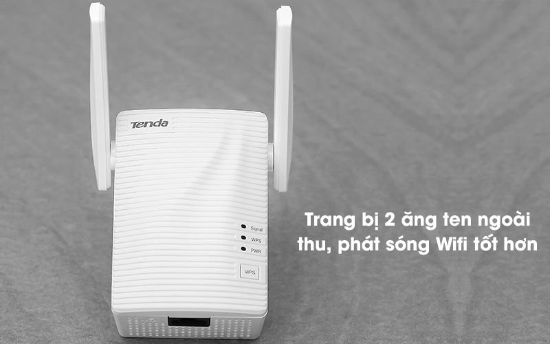 Repeater (bộ mở rộng sóng) Wifi Chuẩn N Tenda A301 Trắng - 2 ăng ten