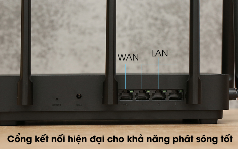 Router Wifi Chuẩn AC2350 Xiaomi Mi Aiot Đen - Kết nối
