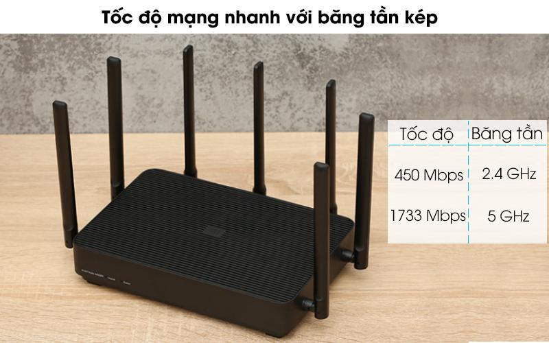 Router Wifi Chuẩn AC2350 Xiaomi Mi Aiot Đen - Băng tần kép