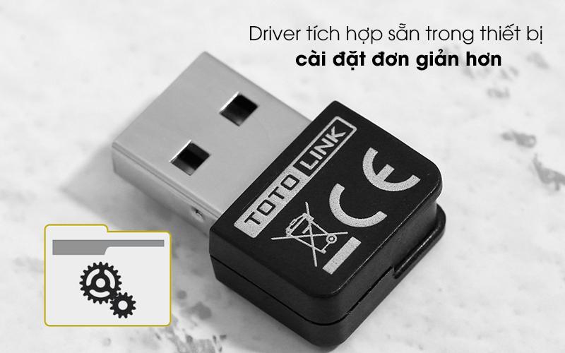 USB Wifi 150 Mbps Totolink N160USM Đen - Thiết lập nhanh hơn nhờ có driver cài đặt tích hợp