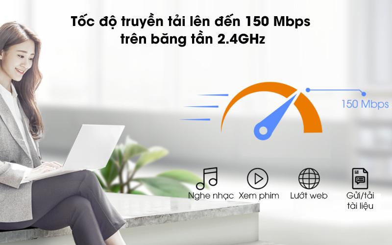 USB Wifi 150 Mbps Totolink N160USM Đen - Lướt web, xem phim với tốc độ lên đến 150 Mbps trên băng tần 2.4GHz