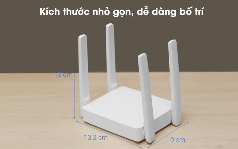 Nhỏ gọn, dễ lắp đặt - Router Wifi AC1200 Băng Tần Kép Mercusys AC10 Trắng